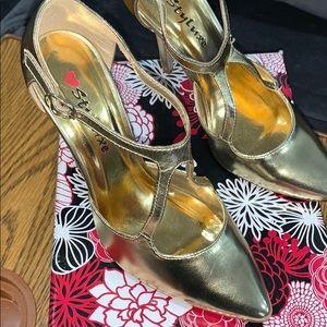 NWB Gold Heels